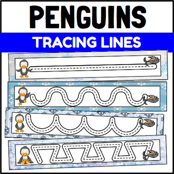 Penguin Prewriting Tracing Cards