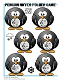 Penguin Treble Clef Music Notes Folder Game