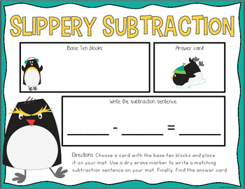 Winter Two-Digit Subtraction