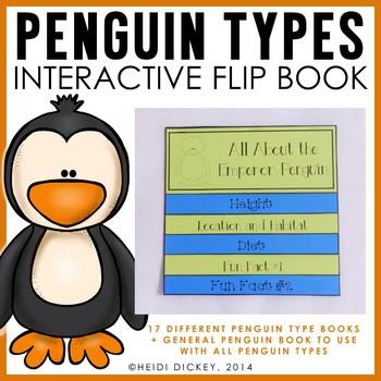 Penguin Types Flip Book (17 Individualized Flip Books)