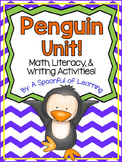 Penguins! Math, Literacy, & Writing Activities!