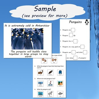 Penguin Unit for Special Education