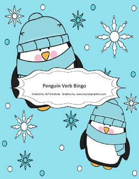 Penguin Verb Bingo