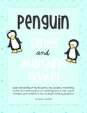 Penguin Vocabulary Center + Matching Game