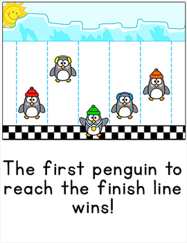 Free Downloads - Penguins Waddle Race SmartBoard Review Game