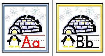 Penguin Wall Alphabet