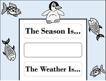 Penguin Weather Chart! Penguin Bulletin Board! Penguin Theme! Penguin Decor!