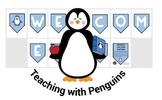 Penguin Welcome Bunting Blue
