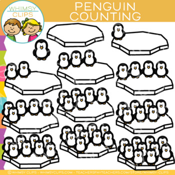 Penguin Winter Counting Clip Art
