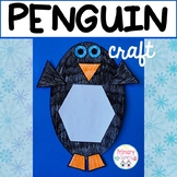 Shape Penguin Craft and writing activity