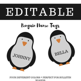 Penguin Winter Name Tags - Perfect for Bulletin Boards