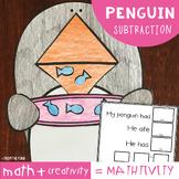 Penguin {Winter} Subtraction Craft Activity