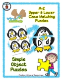 Penguin - Winter Theme - Alphabet / Letter Puzzles - Simpl