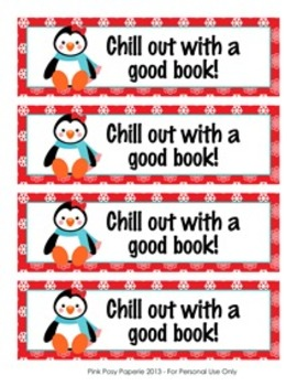 Penguin Winter Theme Bookmarks