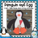 Penguin with Egg on Feet Winter Craft and Writing