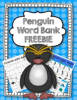 Penguin Word Bank FREEBIE