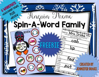 Penguin Word Family FREEBIE