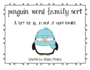 Penguin Word Family Sort