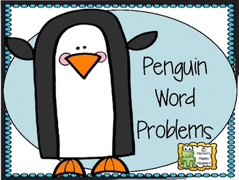 Addition and Subtraction Word Problems with Penguins