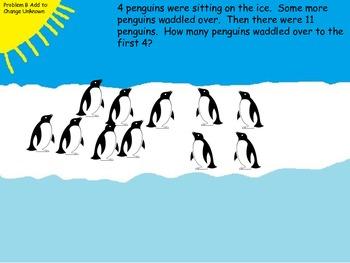 Penguin Word Problems FREEBIE