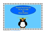 Penguin Word Sort - Aw, Au, Al, Ough