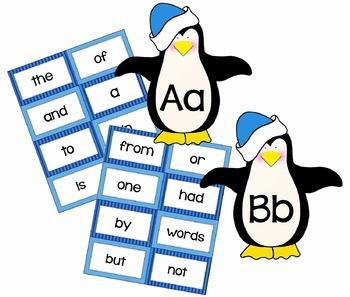 Penguin Word Wall Cards & Headers  {Editable Word Card too!}