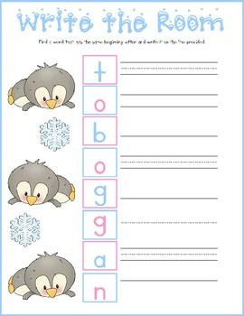 Penguin Write the Room Freebie!