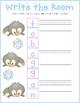 Penguin Write the Room! {one-time prep literacy center freebie}