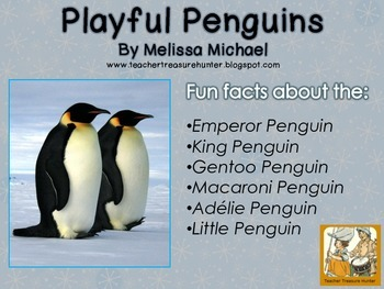 Penguin Writing Freebie (Metric Version) Read & write about 6 penguin species