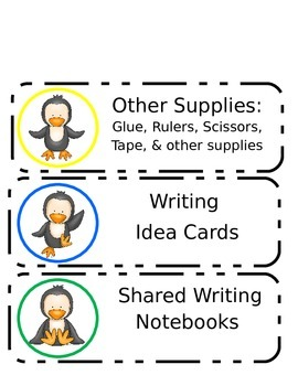 Penguin Writing Organization Labels
