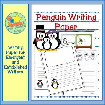 Writing Paper Templates - Penguin Theme