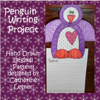Penguin Writing Art Project
