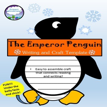 Penguin Writing Craft Template By Primary Wonderland  Tpt