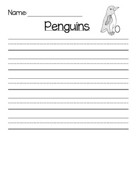 Penguin Writing Template