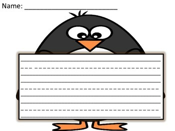Penguin Writing Paper