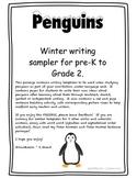 Penguin Writing and Sentence Builder - Polar Animal Sample