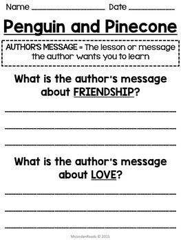 Penguin and Pinecone -- Author's Message Resources