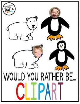 Penguin and Polar Bear Clip Art with Transparent Background