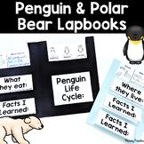 Penguin and Polar Bear Lapbooks {flip book} for Science