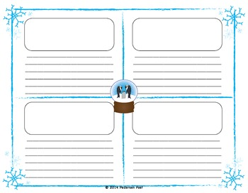 Penguin and Snow Globe Writing Paper