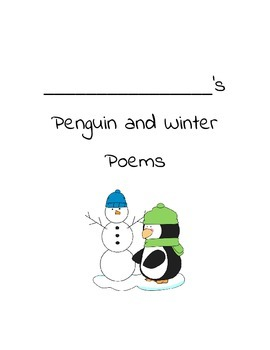 Penguin and Snow Poem Packet