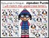 Penguin and Snowman Alphabet Puzzle