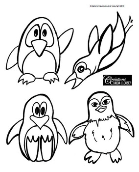 Winter Art Activity and Lesson Plan for Kids : Penguin and Glaciers, Winter