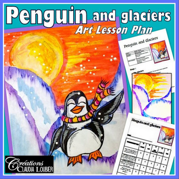 Winter Art Activity and Lesson Plan for Kids : Penguin and