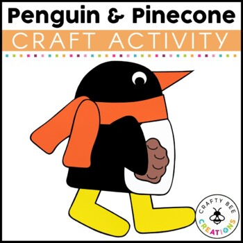 Penguin and Pinecone Cut and Paste