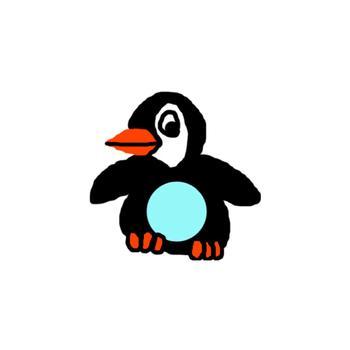 Penguin, calendar days, numbers, aqua