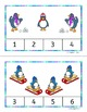 Winter Counting worksheets and task cards - cute penguin graphics