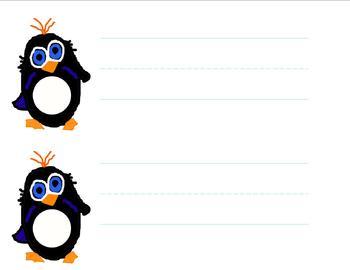 Penguin desk name tag