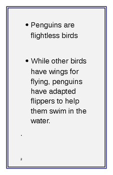 Penguin facts