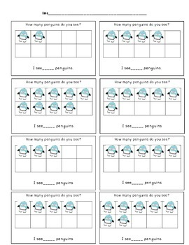 Penguin math and literacy packet